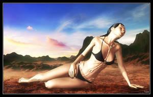 Isha Zinak - Enjoying The Heat by celticarchie