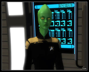 Ensign Xel - Operations/Engineering Assistant by celticarchie