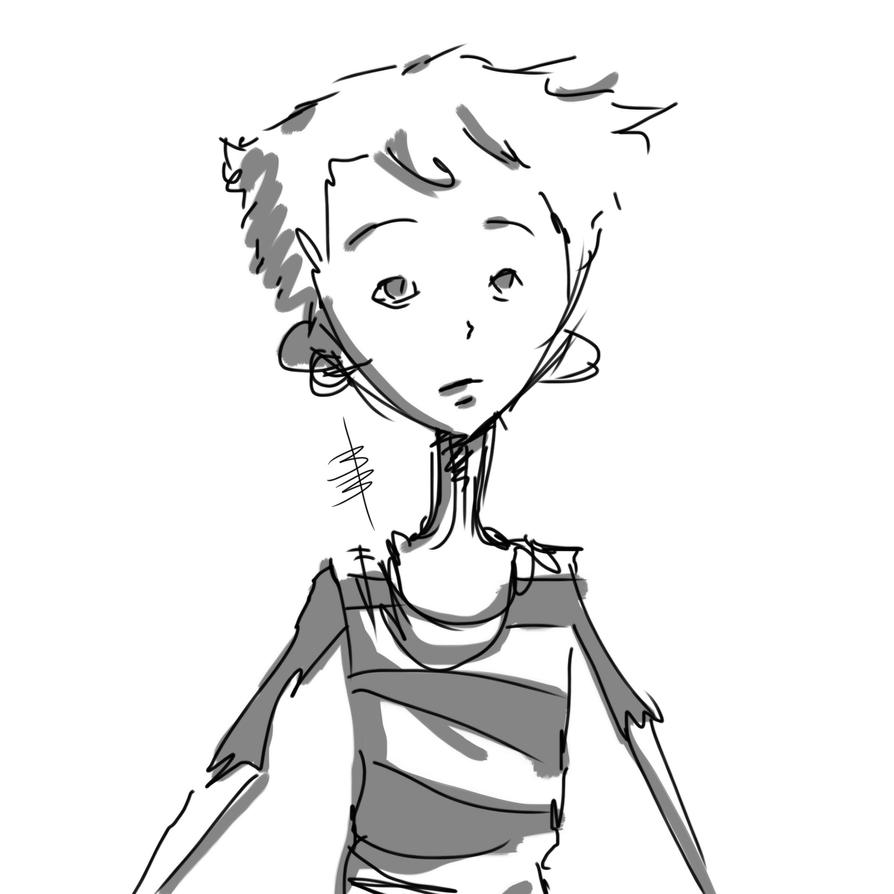 Boy Doodle by DigitallyInking
