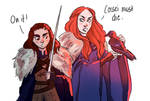 Sansa and Arya