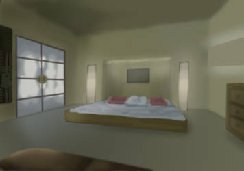 Bedroom - concept  art for 3d