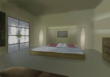 Bedroom - concept  art for 3d by AlexTheMartian