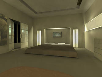 Bedroom - Maya + mental ray by AlexTheMartian
