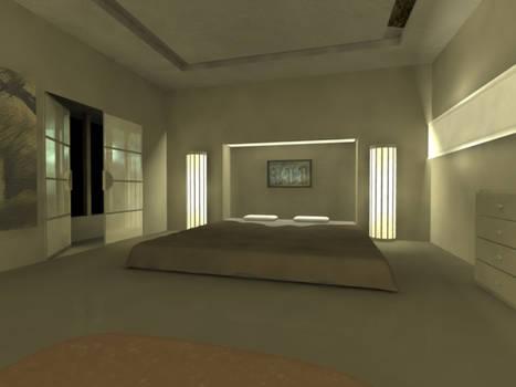 Bedroom - Maya + mental ray