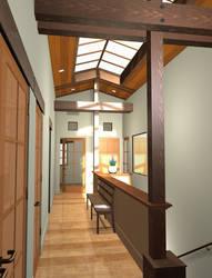 Upstairs Hallway by AlexTheMartian