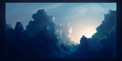 Clouds. Second study.