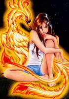 Sara and Phoenix by larkabella