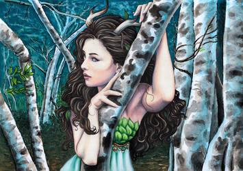 Wood Goddess by larkabella