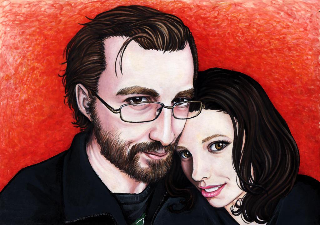 Fulvio and Francesca Portrait by larkabella
