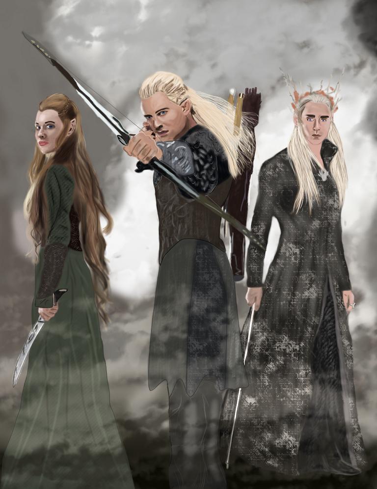 Tauriel, Legolas and Thranduil by magicdrusilla on DeviantArt
