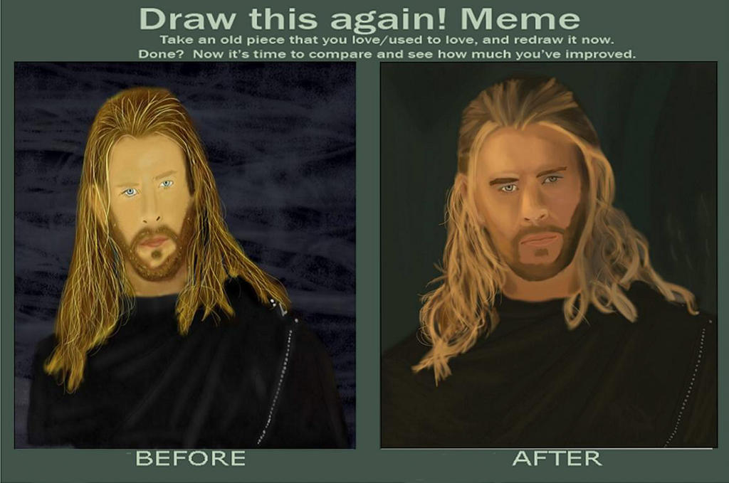 thor before and after by magicdrusilla on deviantart
