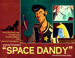 Space Dandy - Lobby Card by paper-lanterns