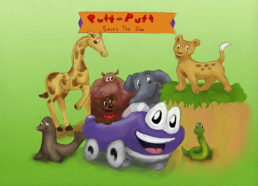 Putt Putt Saves The Zoo : Putt saves the zoo by chocolateviera on deviantart