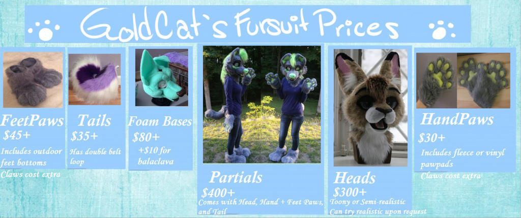 OUTdated Fursuit Commossion Prices by GoldenCat22