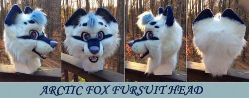 Arctic Fox Fursuit Head by GoldenCat22