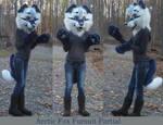Arctic fox Fursuit Partial by GoldenCat22