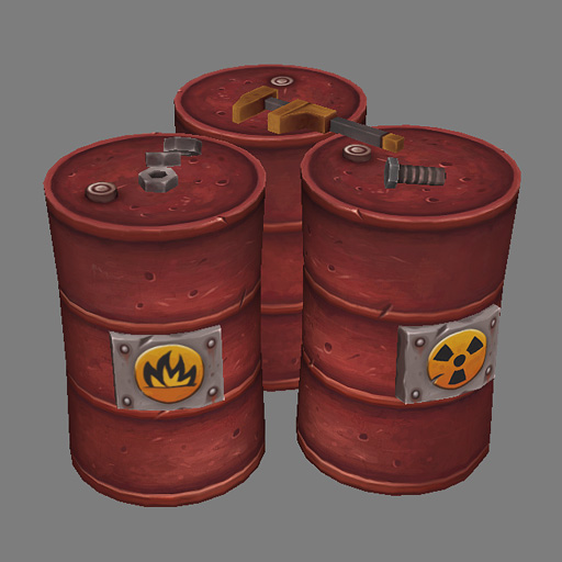 Metal Barrel Render by Jimpaw