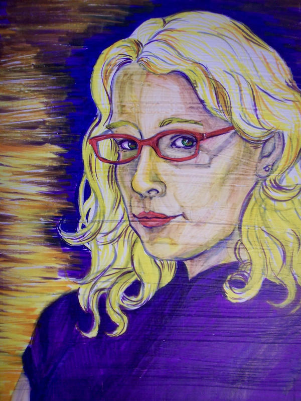 Purple and Yellow me by crazyllama