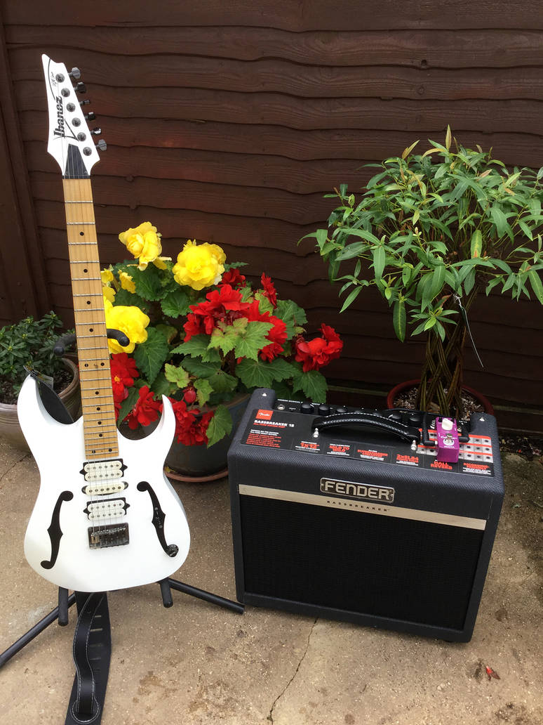 Ibanez PGM 301 and Fender Bassbreaker 15 Tube Amp by