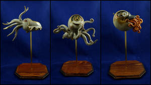 Steampunk Cephalopod Sculpture