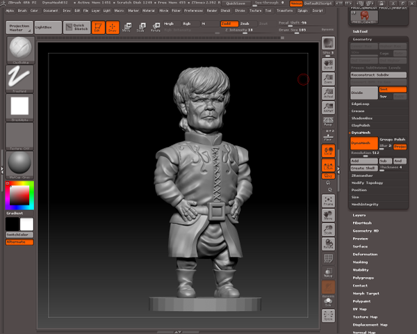 tyrion lannister zbrush by sapoirlandes
