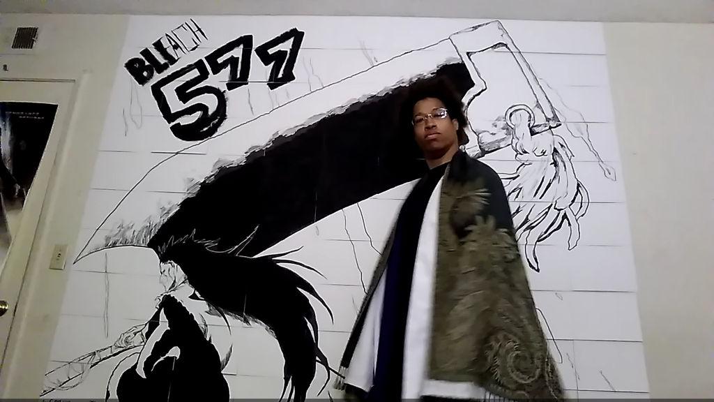 Bleach Zaraki Wall Art 1-6-2019 scale by Phiar