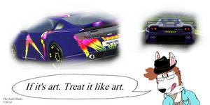 If it's art. Treat it like art.