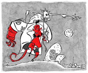 Hellboy and The Corpse by Ivar-L