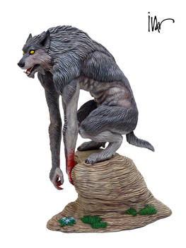 Werewolf 1:8 final statue