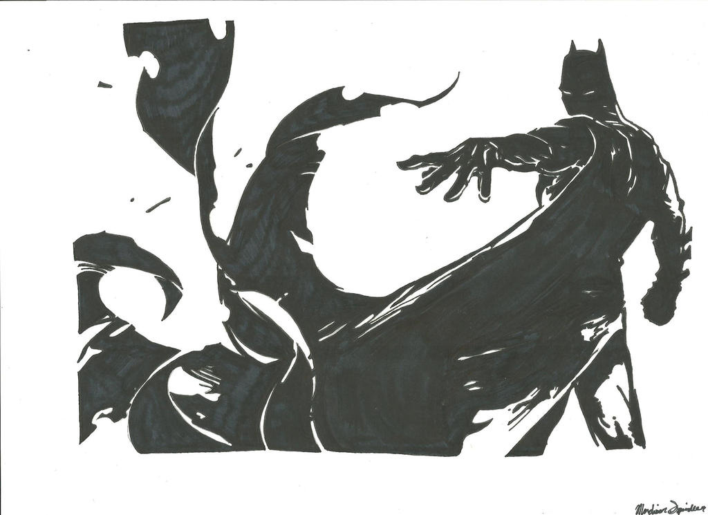 Batman- black and white by greckels