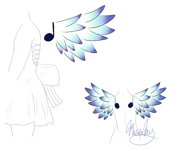 Wing design by sheenaxlover