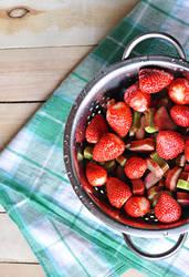 Strawberry with rhubarb