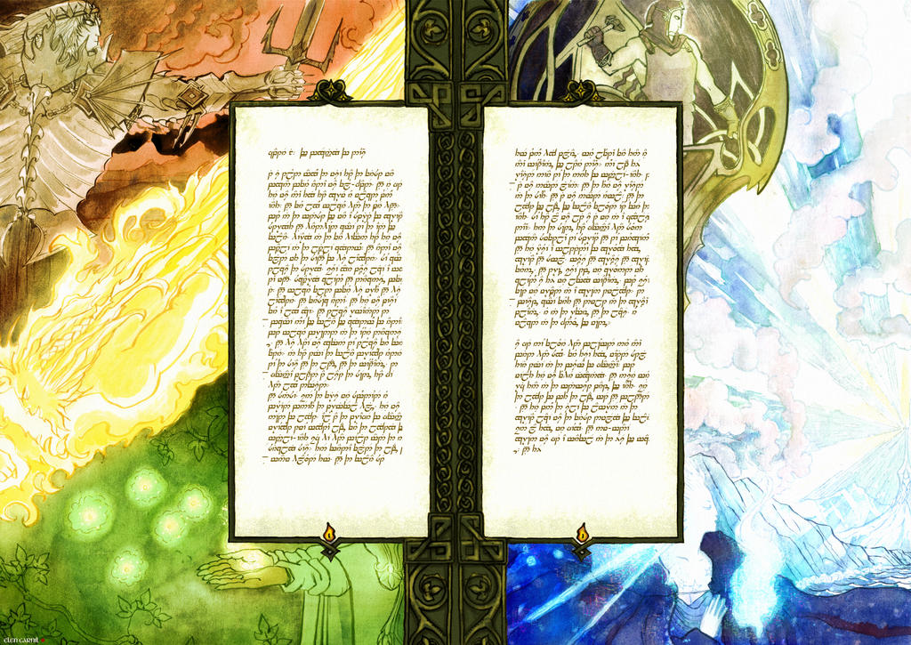 Silmarillion pages 01-02 by Lin-0w0