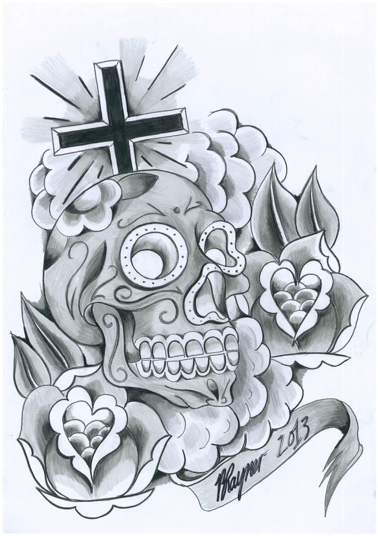 Day of the dead design by brad rayner designs on deviantart for Day of the dead tattoo designs