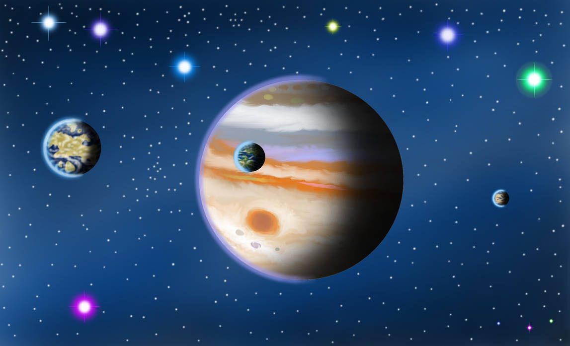Jupiter and Terra-Moons by Mgodmode