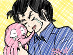 Akamaru, I Love You by sakurarocket
