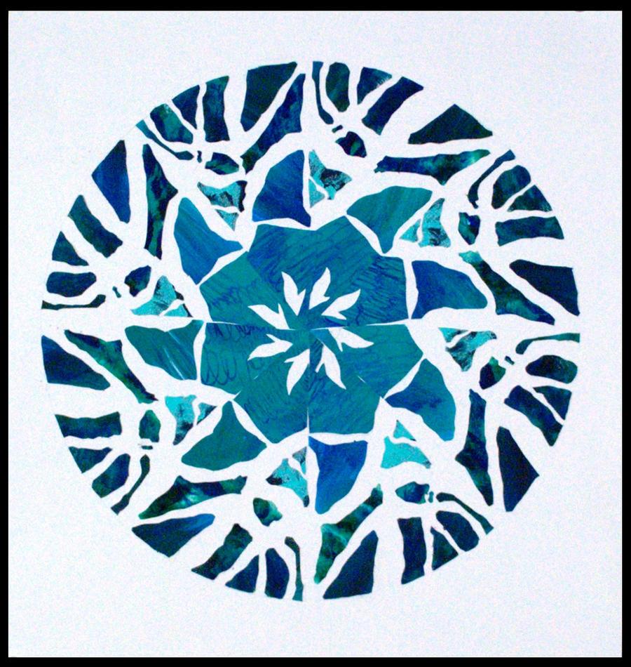Radial Design Art : Radial design in blue by aoiyoru on deviantart