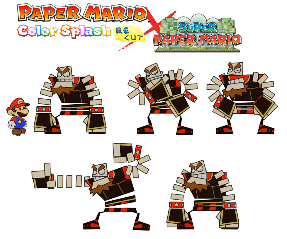 O'Chunks (Color Splash Recut x Super Paper Mario) by DerekminyA