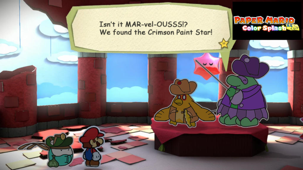 Paper Mario What Did The Green Star Paint