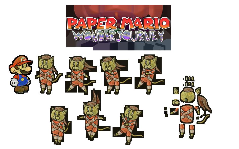 Puum (Paper Mario Wonder Journey) [old look] by DerekminyA