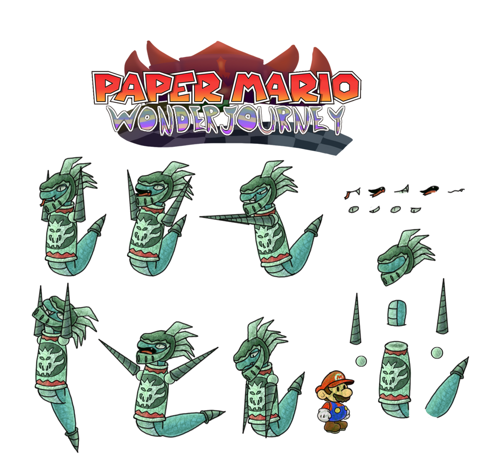 Sir Mordrat (Paper Mario Wonder Journey) by DerekminyA