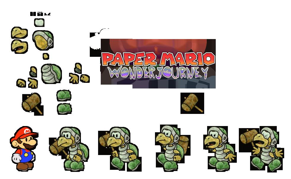 Hammer Bro (Paper Mario Wonder Journey) by DerekminyA