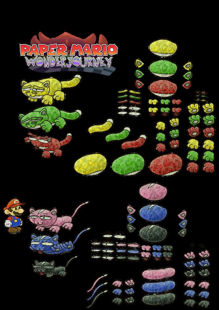 Catknaves (Paper Mario Wonder Journey) by DerekminyA