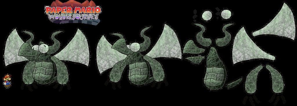 Jabbiwockey (Paper Mario Wonder Journey) by DerekminyA