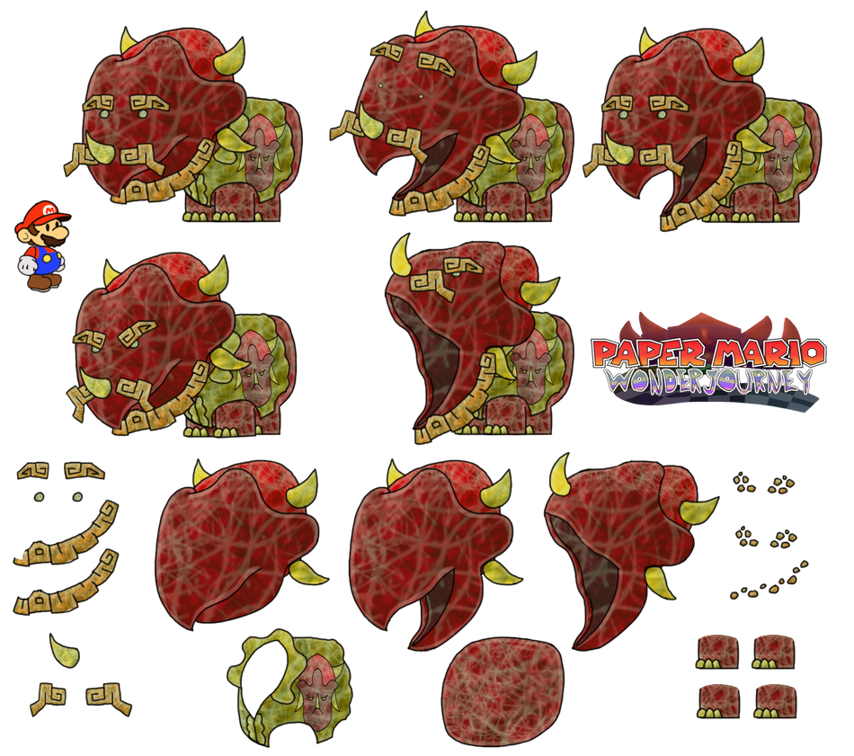 King Reznidae (Paper Mario Wonder Journey) by DerekminyA