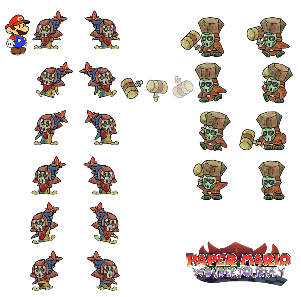 Rosey and Derstone (Paper Mario Wonder Journey) by DerekminyA