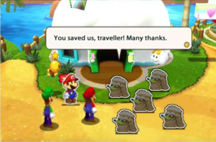 Mario and Luigi Paper Jam Recut altered pic 4 by DerekminyA