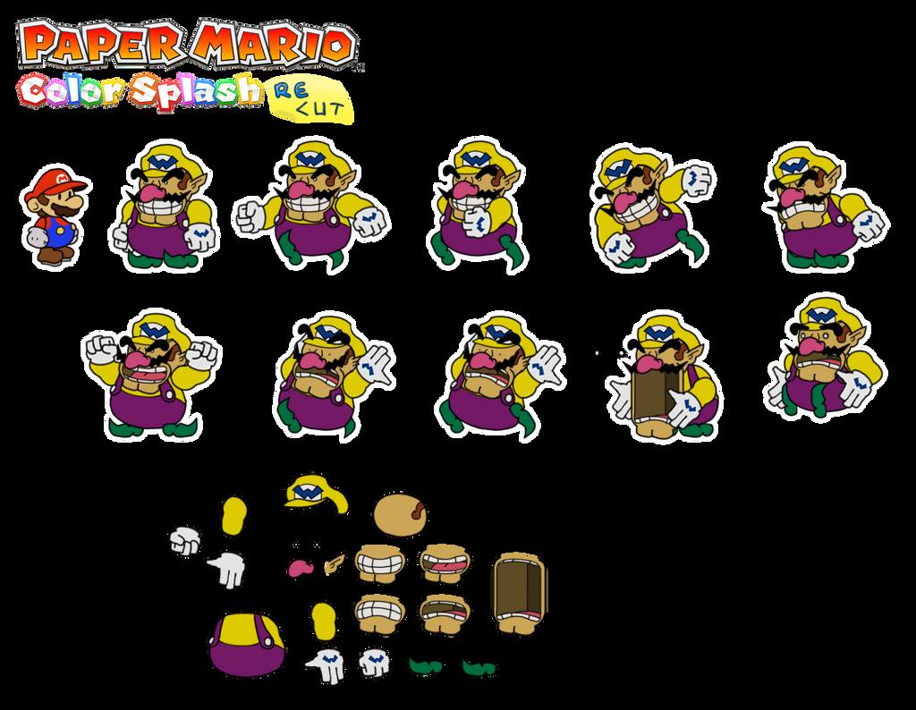 Wario (Paper Mario Color Splash Recut) by DerekminyA