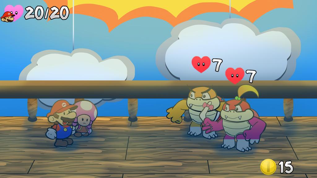 Mario Story Fruit Shake battle concept v1 by DerekminyA
