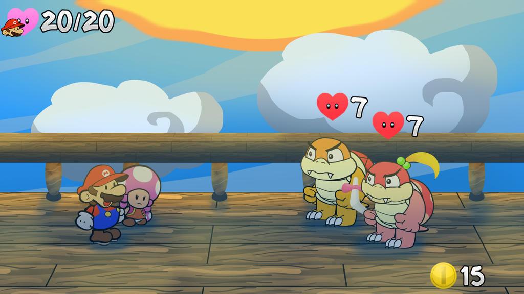 Mario Story Fruit Shake battle concept v2 by DerekminyA